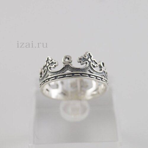 Крона кольцо целая из серебра и золота. Оптом и в розницу (1)