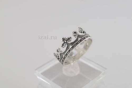 Крона кольцо целая из серебра и золота. Оптом и в розницу (2)