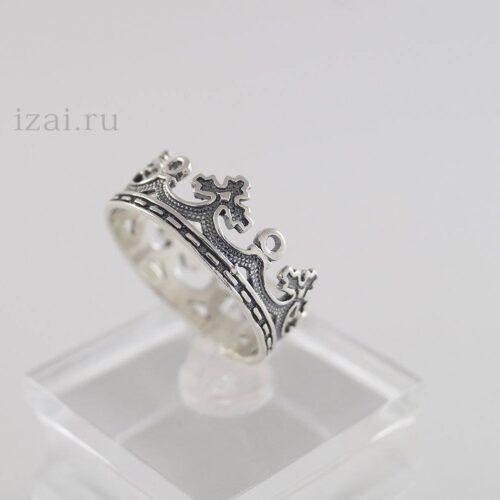 Крона кольцо целая из серебра и золота. Оптом и в розницу (3)