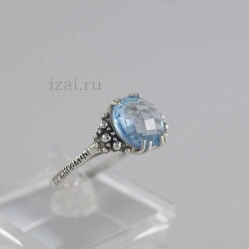 Кольца с камнем из серебра золота. Купить оптом и в розницу... izai (6)