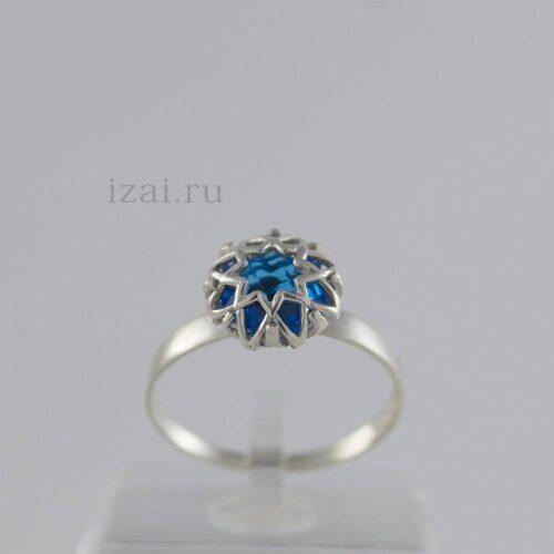 Кольцо с камнем из золота и серебра купить в розницу и оптом (2)