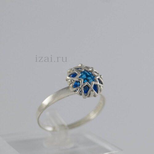 Кольцо с камнем из золота и серебра купить в розницу и оптом (3)