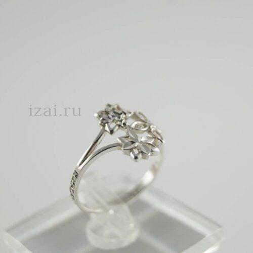 Кольцо с камнем из серебра и золота. купить оптом и в розницу (1)