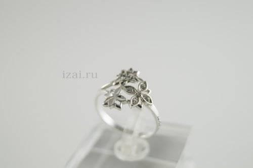 Кольцо с камнем из серебра и золота. купить оптом и в розницу (2)