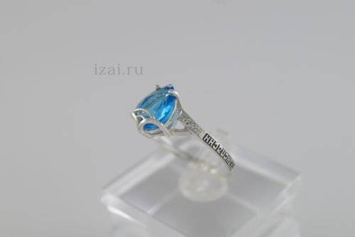 Кольцо с камнями из серебра и золота купить оптом и в розницу производитель (1)