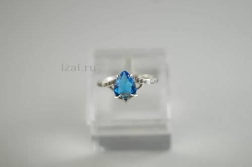 Кольцо с камнями из серебра и золота купить оптом и в розницу производитель (2)