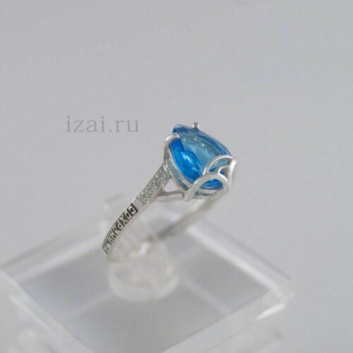 Кольцо с камнями из серебра и золота купить оптом и в розницу производитель (3)