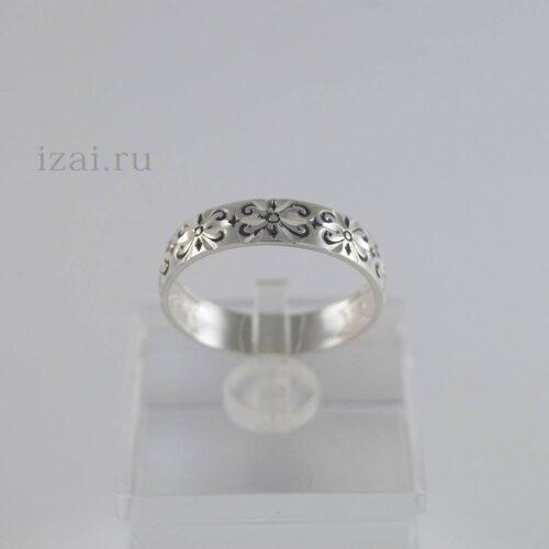 Кольцо с узором из серебра и золота опт и розница (1)