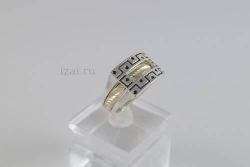 Перстень мужской из золота и серебра купить оптом и в розницу (2)