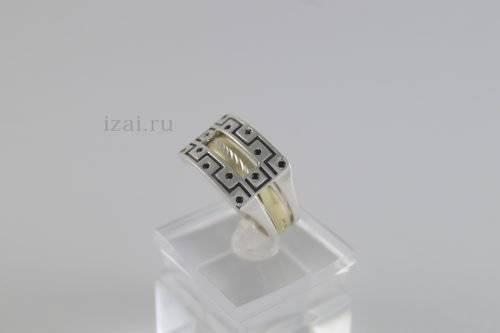 Перстень мужской из золота и серебра купить оптом и в розницу (3)
