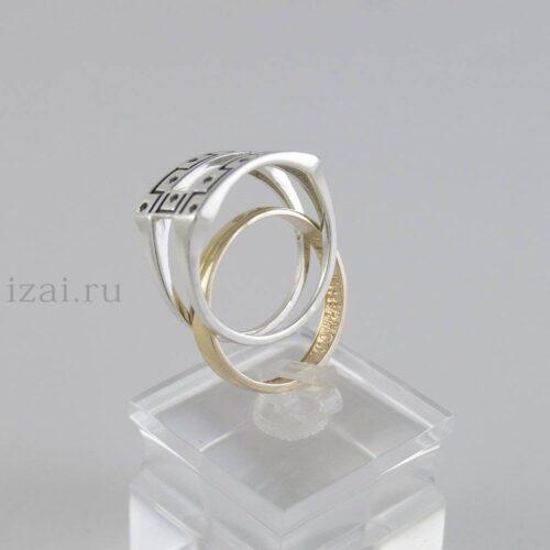 Перстень мужской из золота и серебра купить оптом и в розницу (5)