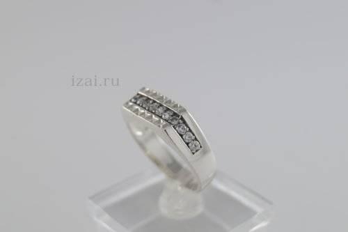 Перстень мужской с камнями из золота и серебра. Купить Оптом и розницу (1)