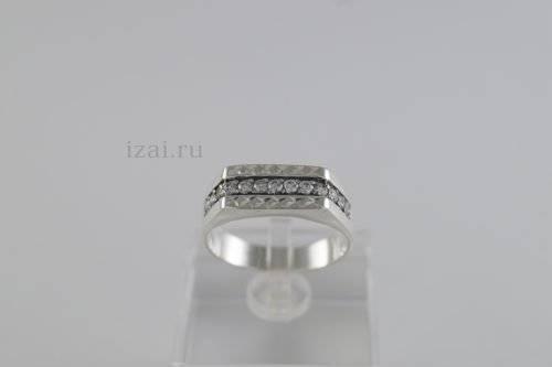 Перстень мужской с камнями из золота и серебра. Купить Оптом и розницу (2)