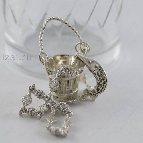 Ионизатор воды. Ведро с щукой. Серебро 925. izai (2)