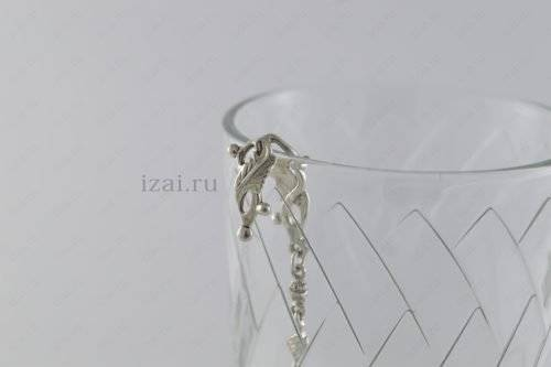 Ионизатор воды. Якорь с дельфином. Серебро 925. izai (1)