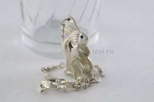 Ионизатор воды. рыбка. Серебро 925. izai (2)