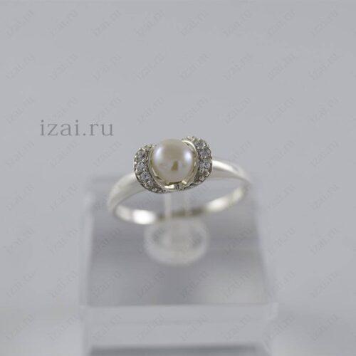 Кольцо с жемчугом. Серебро Золото. izai (1)