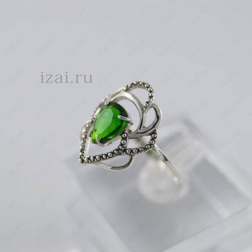Кольцо с камнем из серебра и золота. izai (1)