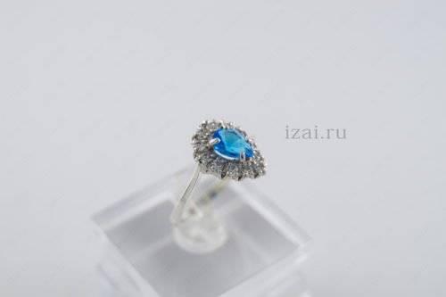 Кольцо с камнем из серебра и золота. izai (2)