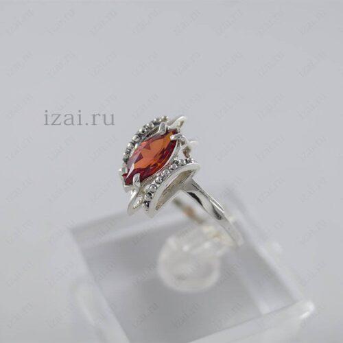 Кольцо с камнем. Серебро Золото. izai (1)