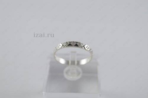 Кольцо с камнем. Серебро золото. izai (2)