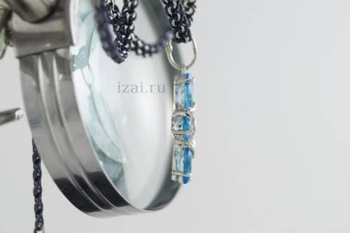 Кулон с камнями. из серебра или золота. izai (3)