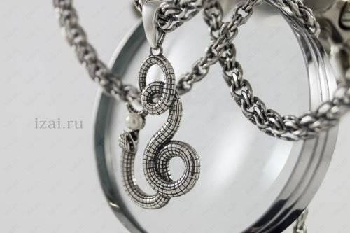 Змея с жемчугом из серебра. Фото. izai.ru Ювелирная Мастерская (3)