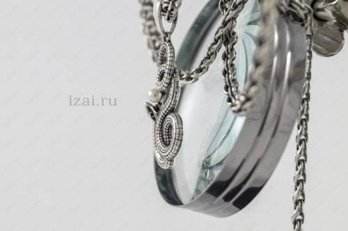 Змея с жемчугом из серебра. Фото. izai.ru Ювелирная Мастерская (4)