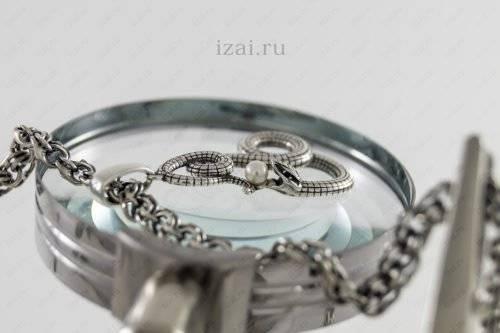 Змея с жемчугом из серебра. Фото. izai.ru Ювелирная Мастерская (6)