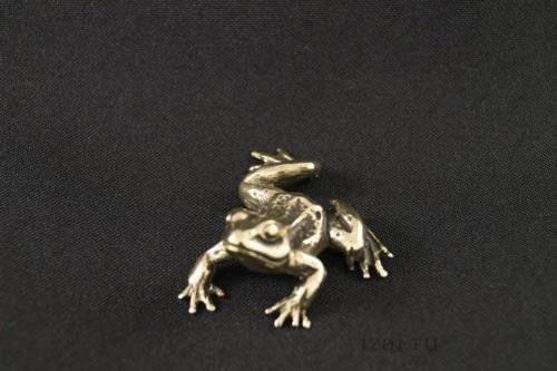 Сувенир Лягушка №6128 из латуни серебро золото.