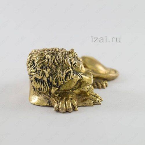 Сувенир Лев №6887 из латуни серебра золота