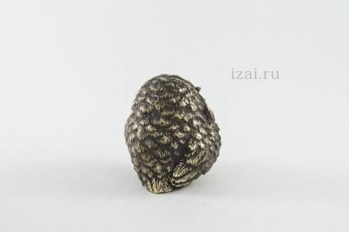 Сувенир Сова с карандашом №6101 из латуни серебра золота