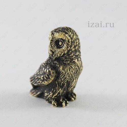 Сувенир Сова №6111 из латуни серебра золота