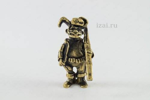 Сувенир Дед с ружьем №6876 Латунь Серебро Золото
