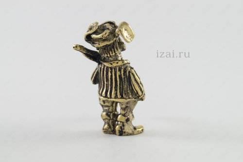 Сувенир Дед с ружьем №6877 Латунь Серебро Золото