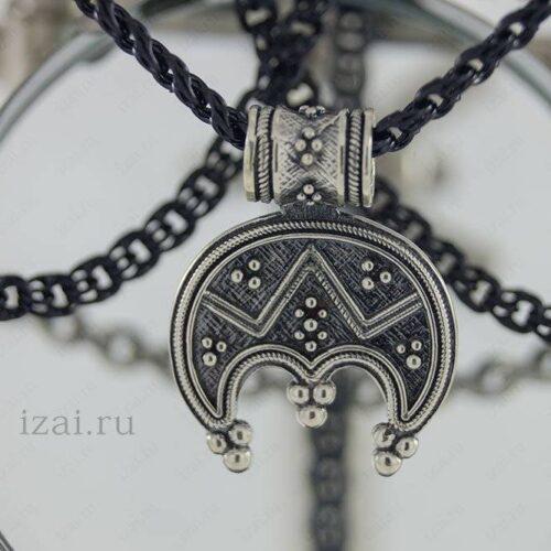 Славянский Оберег Лунница №1515 из серебра золота
