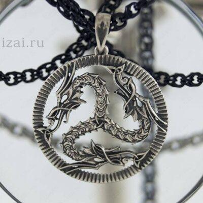 Скандинавский Оберег Триксель (Трискелион) Драконы №1145