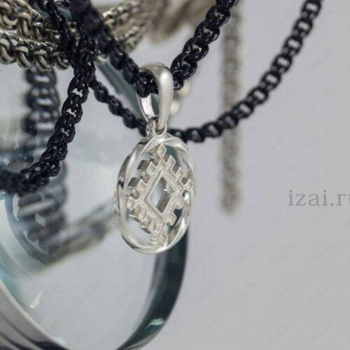 Славянский Оберег Репейник Счастья №8969 из серебра золота