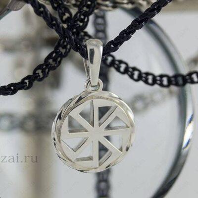 Славянский Оберег Коловрат №7778 из серебра золота