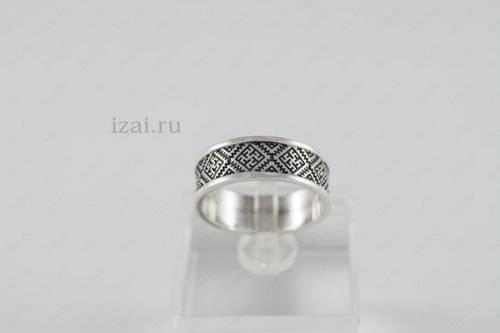Кольцо Цветок Папоротника №4005 из серебра золота
