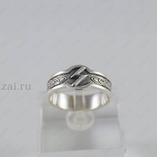 Кольцо Руна Совелу №6020 из серебра золота