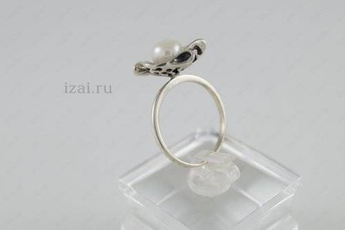 Кольцо с жемчугом. Риф №3750