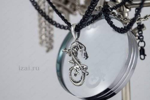 Дракон кулон серебро золото латунь броза