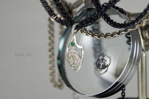 Кулон со знаком зодиака Весы с камнем. №7401