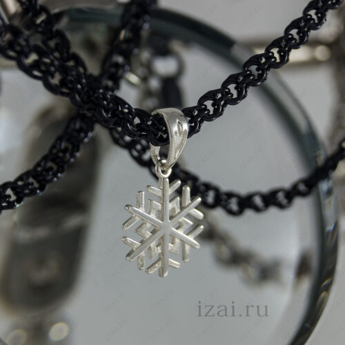 Подвеска снежинка №0102